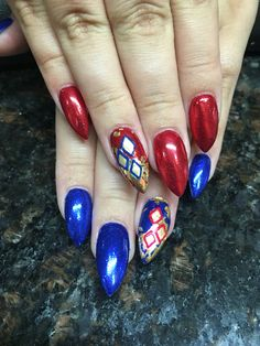 Harley Quinn Suicide Squad nails