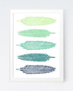5 Mustard and Mint Feathers Art, Green and Gold Wall Printable, Shadows of Teal… Feather Wall Decor, Feather Art, Mint Walls, Gold Walls, Gold Bedroom, Bedroom Decor, Teal Room Decor, Bedroom Ideas, My New Room