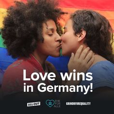 "just want y'all to celebrate with everyone staying in Germany. They legalized same sex marriage. Love is love"" Lgbt Wedding, Partner, Instagram Feed, Congratulations, Germany, Marriage, Celebrities, Rain Bow, Casamento"
