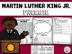 Martin Luther King Jr Day Included In This Download Are Four Free Pages From My