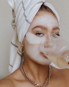 Beauty Care, Beauty Skin, Multi Masking, Fashion Face Mask, Aesthetic Girl, Aesthetic Grunge, Face Aesthetic, Skin Care, Head Start