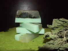 Χειροποίητο Σαπούνι Τσουκνίδας για παθήσεις του τριχωτού της κεφαλής Handmade Nettle Soap Feta, Dairy, Soap, Cheese, Soaps