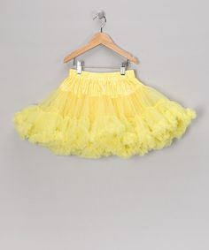 Take a look at this Yellow Rhinestone Pettiskirt - Toddler & Girls by Blow-Out on #zulily today!