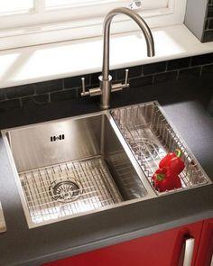 Stainless Steel Kitchen Sinks At Home Depot Kitchen Sink Cleaner, Kitchen Sink Units, Kitchen Sink Design, Kitchen Ideas, Undermount Stainless Steel Sink, Stainless Steel Kitchen, Undermount Sink, Home Depot
