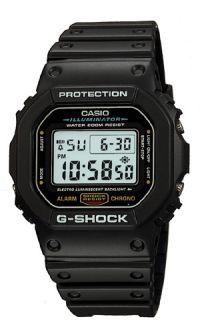 Casio G-Shock Watch Black Resin Band 200M WR DW5600E-1V -ww