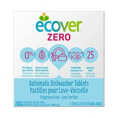 Ecover Automatic Dishwasher Soap Tablets Zero (Fragrance-Free) 25 Count for sale online Best Dishwasher Detergent, Dishwasher Tabs, Cleaning Day, Green Cleaning, Spring Cleaning, Yogurt Smoothies, All Purpose Cleaners, Fragrance Parfum, Natural Cleaning Products