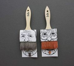 Simon Laliberté, a student at UQAM, designed this clever and quirky paintbrush packaging for a fictive company called Poilus that uses the two brushes for humorous effect in the package design Tea Packaging, Brand Packaging, Product Packaging, Packaging Ideas, Innovative Packaging, Guerilla Marketing, Packaging Design Inspiration, Paint Brushes, How To Draw Hands
