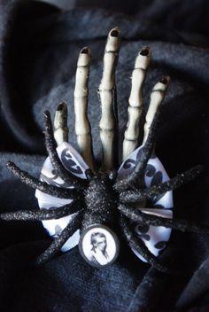 Zombie Skeleton Hand Hair Clip by TheBeesKneesCrafts