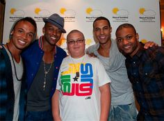 JLS meeting our competition winner Competition, Band, Sports, T Shirt, Tops, Women, Fashion, Hs Sports, Supreme T Shirt