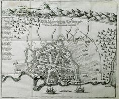 View of Chandax, in and during it siege by the Ottomans. After being besieged for twenty-four year Crete became part of the Ottoman Empire - PALMER, Roger, Earl of Castlemaine - GEZGİNLERİN BAKIŞI - Yerler - Anıtlar – İnsan Heraklion Crete, Star Fort, Crete Island, Simple Photo, Old Maps, Ottoman Empire, Flora And Fauna, Kandi, Frankfurt