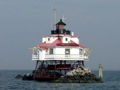 """Mobile Middle Bay Lighthouse has an almost identical twin called the """"Thomas Point Lighthouse,"""" located in Chesapeake Bay, Maryland."""