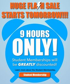 Can you believe it! Amazing promotion for the Student Membership tomorrow for 9 hours only. You don't want to miss out! #Promo #memberships #dontmissout #9hoursonly #CompleteSpeech