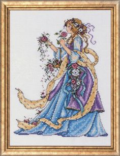 """No Frame Cross Stitch Embroidery Starter Kit including 17/""""x26/"""" 14 Count classic reserve Aida colored threads and tools The Mermaids"""