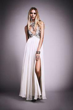 Charming Beaded Prom Dress,Deep V Neck Prom Dress,MB 410