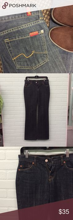 """7 For All Mankind Bootcut Jeans Size 26 2 Excellent condition with no known flaws. Size 26 Jeans which is around a size 2.  100% cotton, boot cut. 32"""" inseam, 8"""" rise. Smoke free home. 7 For All Mankind Jeans Boot Cut"""
