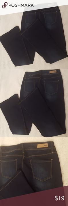 YMI Flare Leg Dark Blue Jeans Size 9 YMI Flare Leg blue jeans long length size 9, new without tags. YMI Jeans Flare & Wide Leg