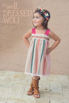 Well Dressed Wolf Island Bloom Pink, S Cute Girl Outfits, Cute Outfits For Kids, Little Girl Dresses, Flower Girl Dresses, Girls Dream Closet, Baby Girl Closet, Well Dressed Wolf, Skirt Tutorial, Girls Boutique
