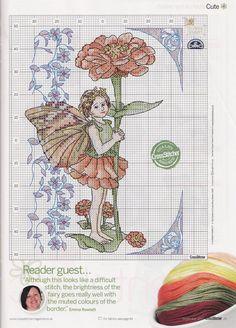 Encontrado en nattys.cross.stitch.corner.blogspot.com zinnia fairie natty's cross stitch corner