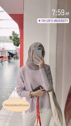 Stylish Hijab, Casual Hijab Outfit, Ootd Hijab, Teen Fashion Outfits, Ootd Fashion, Street Hijab Fashion, Hijab Fashion Inspiration, Simple Outfits, Ideas