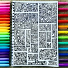 Mandala Art Therapy, Mandala Art Lesson, Mandala Artwork, Doddle Art, Mandela Art, Mandala Doodle, Bullet Journal Lettering Ideas, Doodle Art Designs, Art Painting Gallery