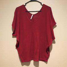 Burgundy top Light weight  perfect condition  polyester  perfect with jeans Oboe Tops