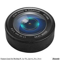 Camera Lens Ice Hockey Puck