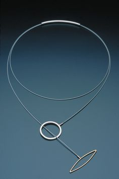 Necklace - Silver + stainless steel wire + K18 (2004 Years) shooting Junichi Kanzaki