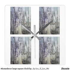 #homedecor large square clock by DAL