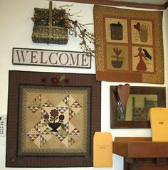 Thursday's Quilt & Simple Life. I want to find the little floral quilt pattern... Love it! ct
