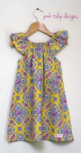 Image of 'Fuchsia Trellis' sophie dress