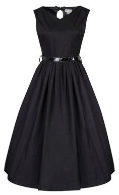 Lindy Bop 'Amorette' Bow Backed Vintage 50's Style Rockabilly Swing Evening Dress (M, Black) Lindy Bop