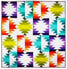 making it fun: Fiesta Forever! Star Quilts, Scrappy Quilts, Quilt Blocks, Quilting Fabric, Quilting Projects, Quilting Designs, Sewing Projects, Southwestern Quilts, Southwest Style