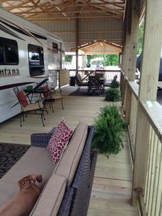 RV Deck Ideas – As a paint job is the quickest way to transform RV, a deck is also the fastest way to. RV Deck Ideas – As a paint job is the quickest way to transform RV, a deck is also the fastest way to. Glamping, Rv Camping, Camping Hacks, Camping Ideas, Camping Hammock, Winter Camping, Camping Outdoors, Camping Essentials, Rv Shelter