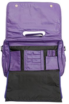 Flap Dark Purple Leather Briefcase / Laptop Bag - $298.00 at The Purple Store