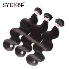7A Brazilian Virgin Hair Body Wave Human Hair Weave 3Pcs Virgin Brazilian Hair Weave Bundles Shiny Hair Co Brazilian Body Wave US $65.81
