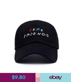 2807de06ac328 Hats 2018 Black Embroidered Zero Friend Dad Hat Adjustable Funny Baseball  Cap Hip  ebay