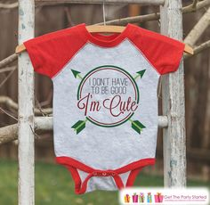 Funny Kids Christmas Outfit - I'm Cute Christmas Onepiece or Shirt - Kids Holiday Outfit - Boy Girl - Kids, Baby, Toddler, Youth