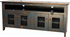 Rustic Country Big Media Center Storage Cabinet  Console Sideboard. $399.99, via Etsy.