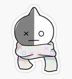 Pegatina Bufanda van Pop Stickers, Kawaii Stickers, Printable Stickers, K Pop, Bts Merch, Line Friends, Bts Drawings, Bullet Journal Ideas Pages, Bts Chibi