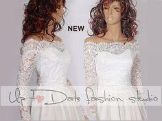 Plus Size wedding lace topper /brida top/ shrug /wrap/lace jacket ...