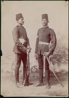 Soldiers in Ottoman Egypt, undated.