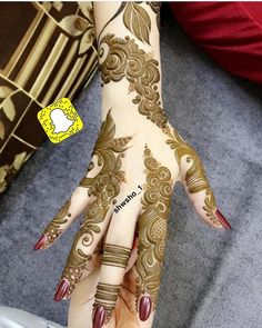 No automatic alt text available. Hena Designs, Mehndi Art Designs, Mehndi Designs For Hands, Henna Tattoo Designs, Pakistani Henna Designs, Arabic Henna Designs, Bridal Henna Designs, Stylish Mehndi Designs, Mehndi Design Pictures