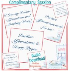 This complimentary audio session accompanies [reinforces and helps you with] your affirmation and diary entries and exercises. Only download and listen to this if you're using the affirmation diary sets. Enjoy! This download is programming you to do your affirmations and affirmation diary entries. It's considered bonus because it's only for people who use the positive affirmation diary sets. You don't need this one to make anything else work. It's just simply a nice addiction to your…