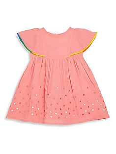 Billieblush Baby's Embroidered Cape Sleeve Dress
