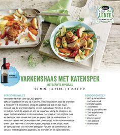 Varkenshaas met katenspek met gepofte appeltjes - Lidl Nederland