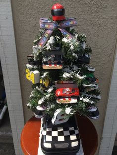 Nascar, Various Drivers,  Themed Christmas Tree,  Holiday Tree,  Home Decor,  Man Cave by tistheseasonstore on Etsy