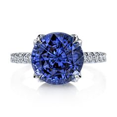 I usually don't like my birthstone, but this ring is just so pretty! Omi Privé color-change ceylon sapphire ring