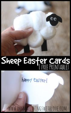 Sheep Easter Cards - Small Things