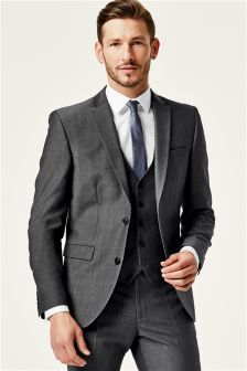 Charcoal Grey Wool Blend Suit (361413) | £125 - £130