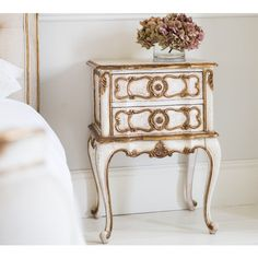 Buy the beautifully designed Palais Royal French Bedside Table, by The French Bedroom Company. Shop 24 hours a day for Effortless Luxury Online. French Bedside Tables, Console Tables, Mens Bedding Sets, Side Tables Bedroom, Contemporary Side Tables, Metal Chandelier, Palais Royal, Gold Bedroom, Parisian Bedroom